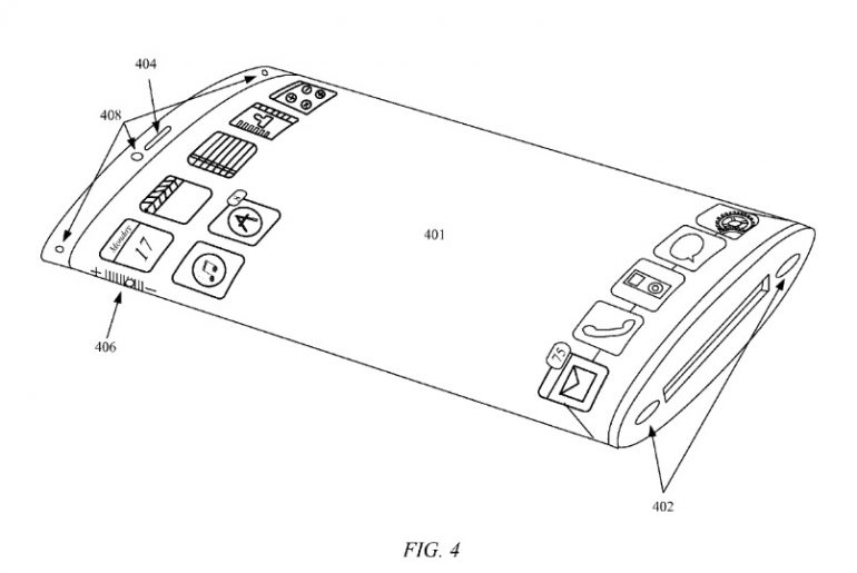 Apple patent points are updated on a wrap-around screen for iPhone