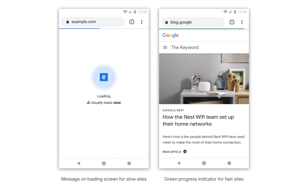Google wants to call out slow sites with Chrome badging