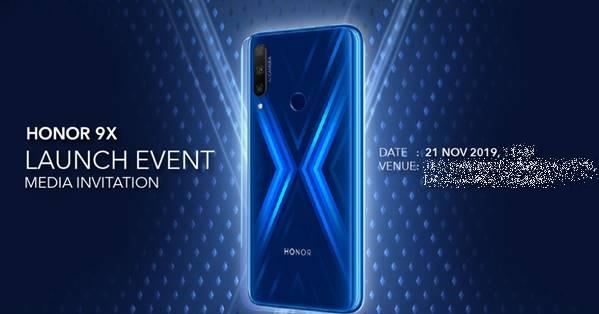 HONOR 9X launch event invitation Maalaysia