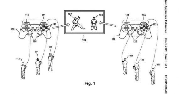 Sony controller split patent USPTO