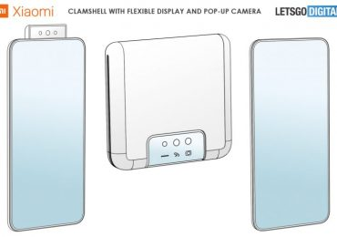 Xiaomi popup clamshell patent