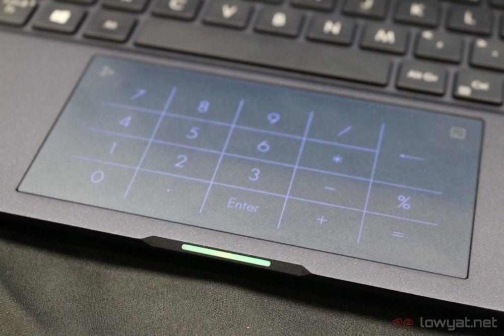 ASUS ExpertBook B9450 NumberPad lit