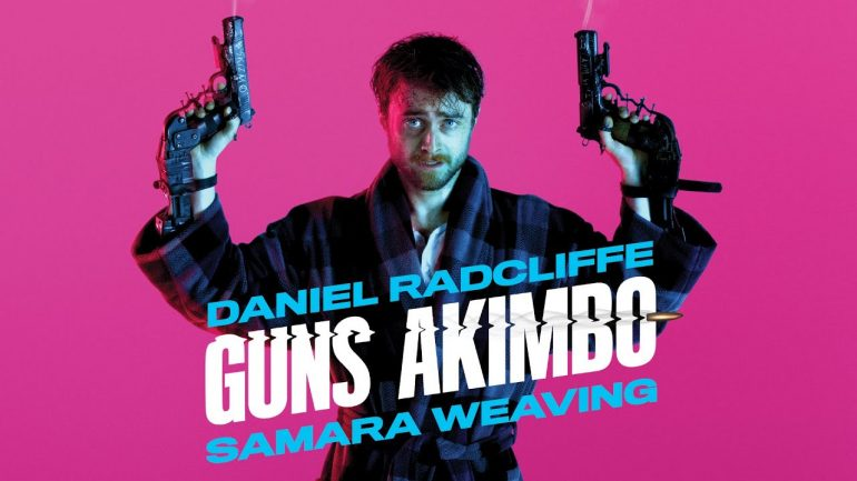 Radcliffe Has Guns Bolted to His Hands in the Guns Akimbo Trailer!