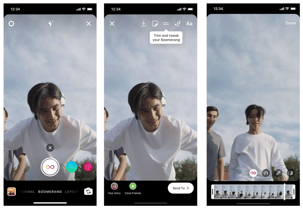 Instagram adds TikTok-like features for Boomerang