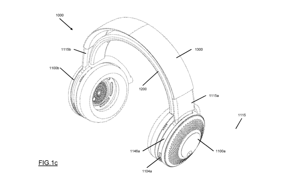 Dyson Headphone air purifier patent headpiece up