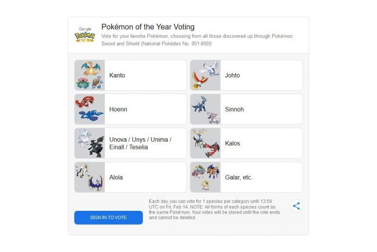 Pokemon Vote on Google