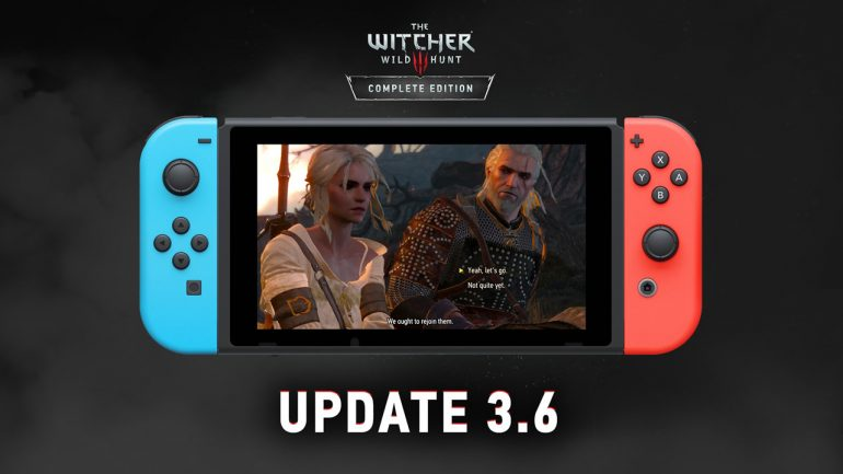 Witcher 3 for Nintendo Switch patch out, improves visuals