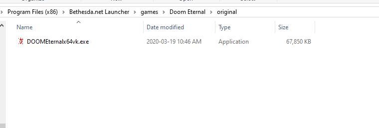 Doom Eternal directory 2