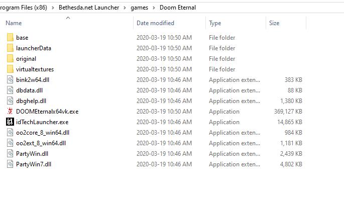 Doom Eternal directory