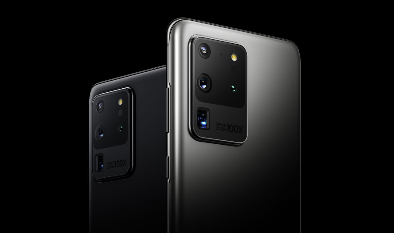 The Samsung S20 Ultra which features the company's ISOCELL 108MP sensor