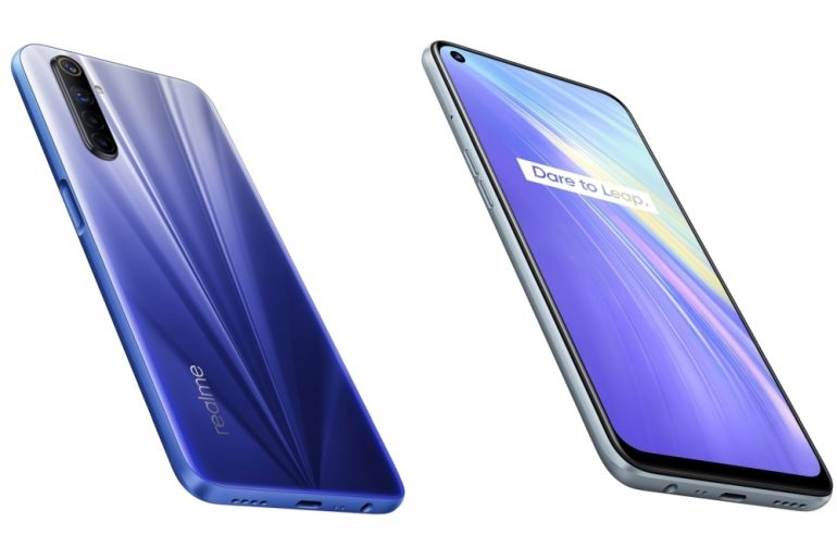 realme 6 back and front