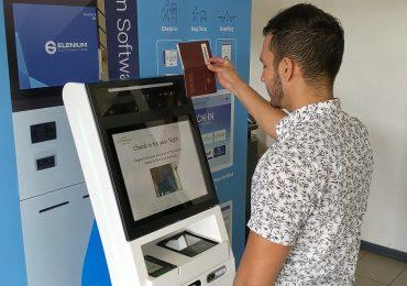 Etihad Airways Elenium demonstration of health screening kiosk