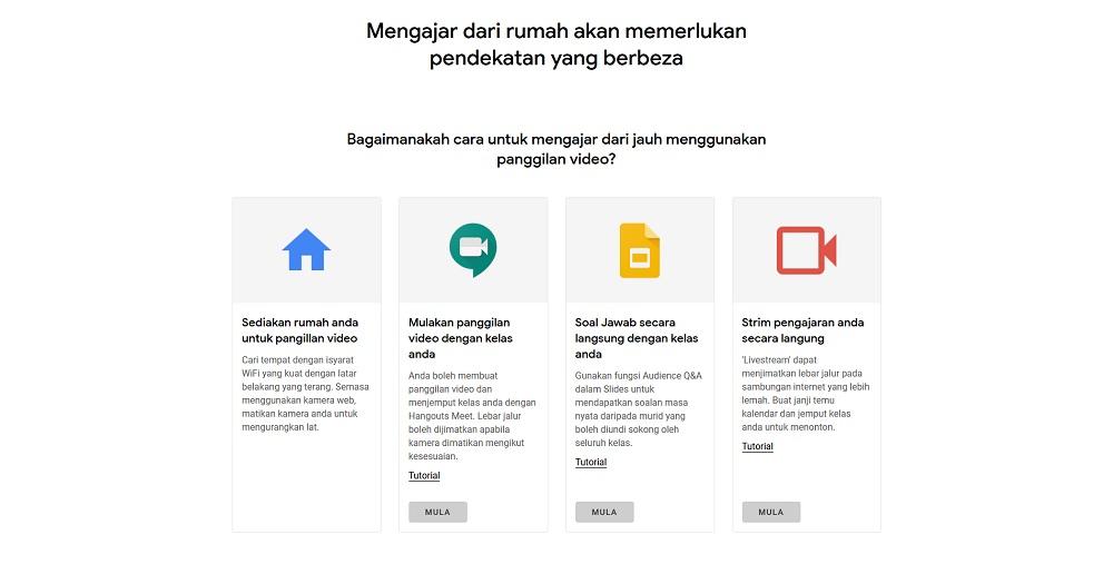 Google Teach from Home hub Malay