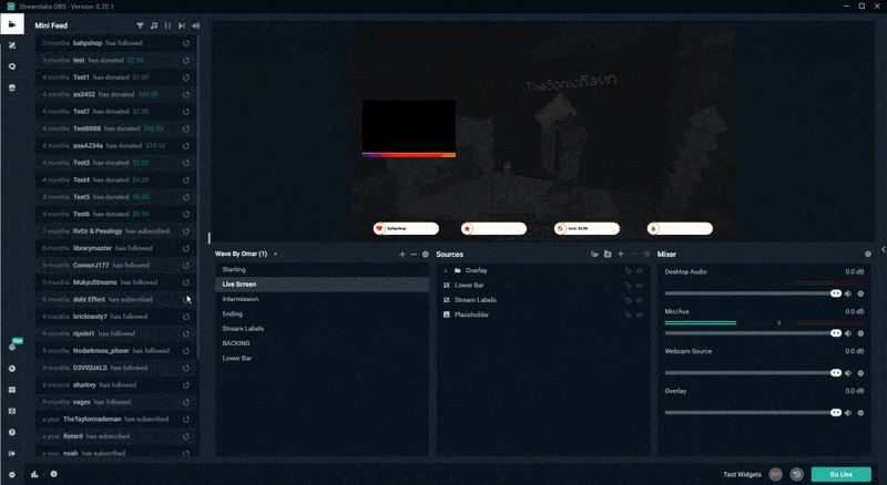 Streamlabs OBS UI