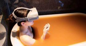 VR hot spring