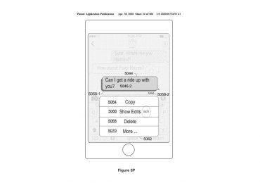 Apple patent Messages edit