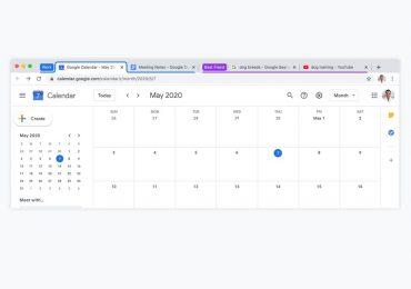 Google Chrome tab grouping