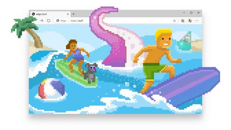 Microsoft Edge surfing game