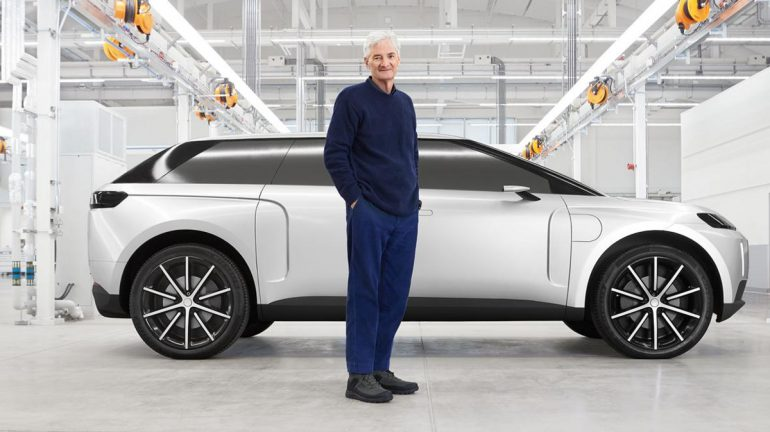 Cancelled Dyson electric vehicle seen for the first time