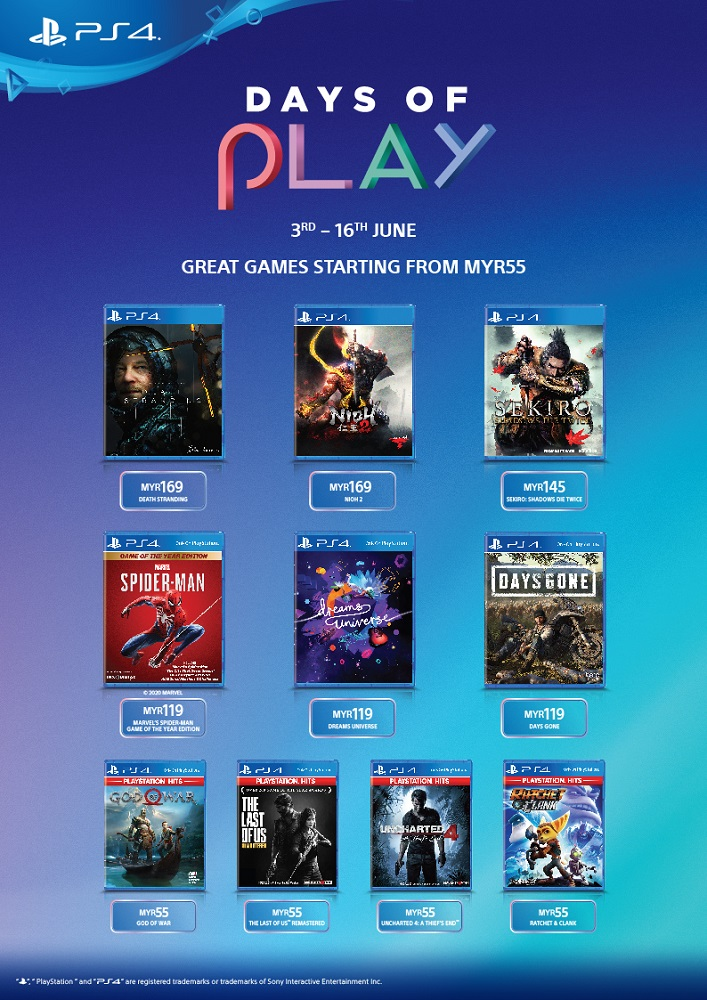 PS4 Days of Play game sale