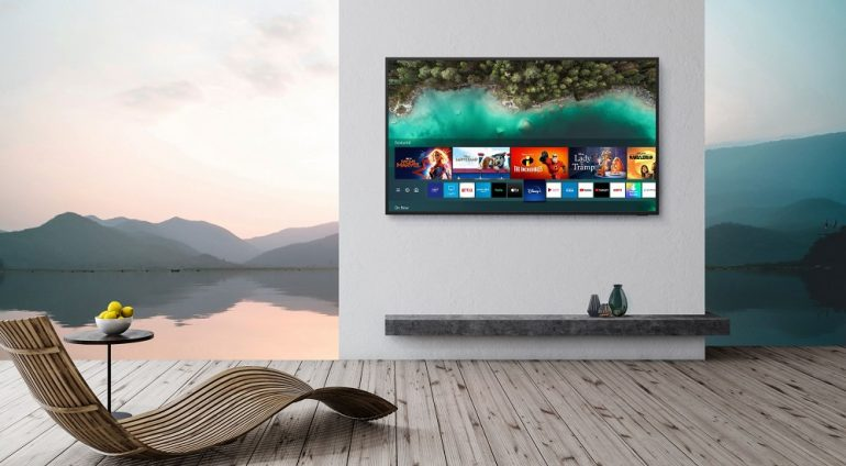 Samsung Terrace TV is a 4K QLED outdoor TV complete with a rain-proof soundbar