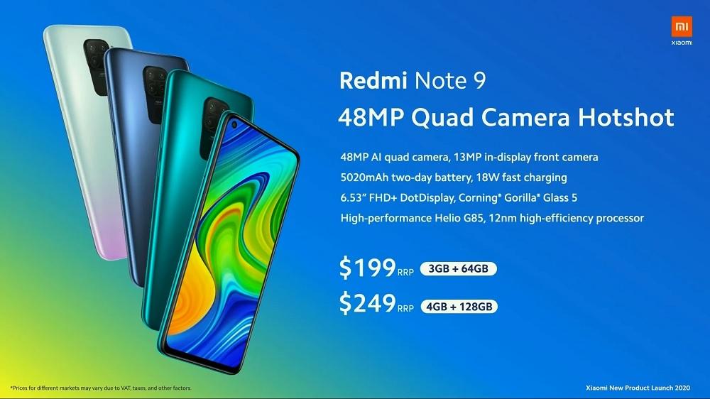 Xiaomi Redmi Note 9 price