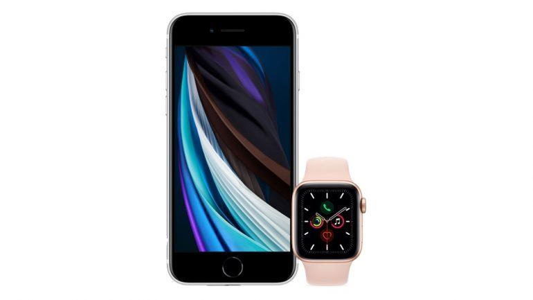 iPhone SE 2020 + Apple Watch Series
