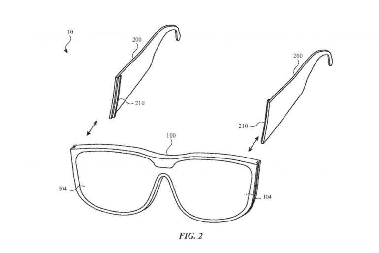 Apple AR glasses modular patent