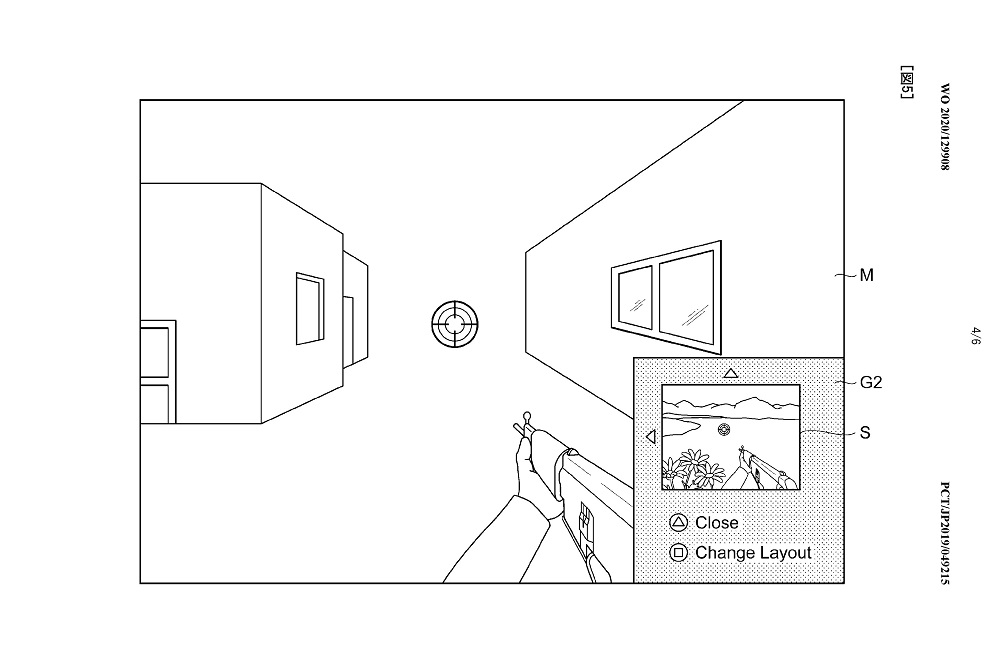 PlayStation 5 patent picture in picture