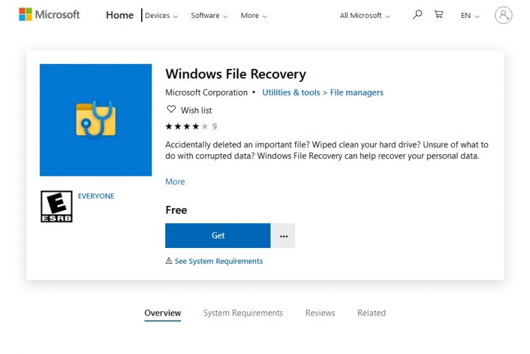 Microsoft Launches Windows File Recovery App