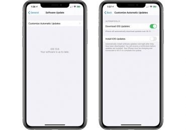 iOS 13.6 beta automatic update download toggle
