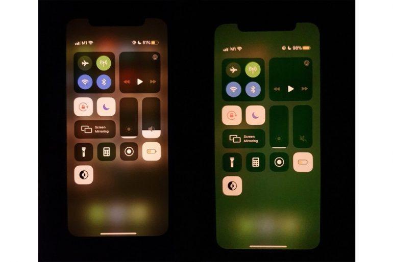 iPhone Green Tint