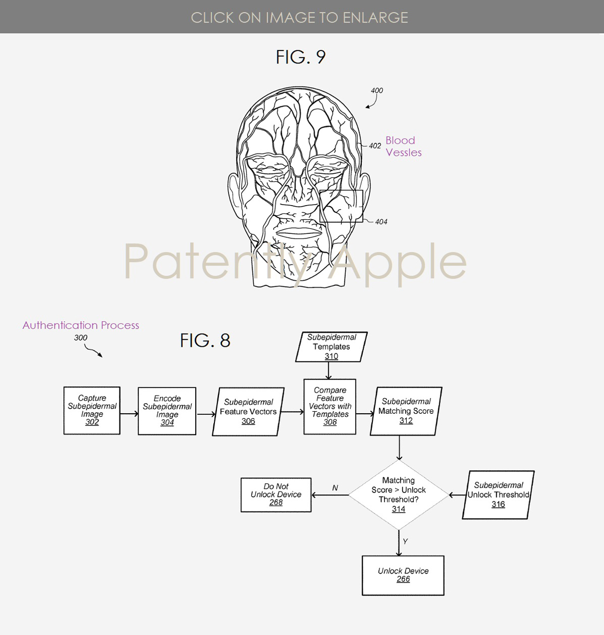 Apple Patent Face ID Vein Scanning