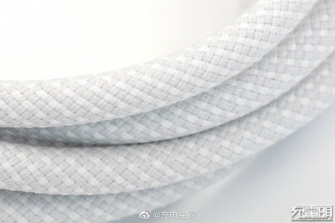 Braided Lightning cable closeup