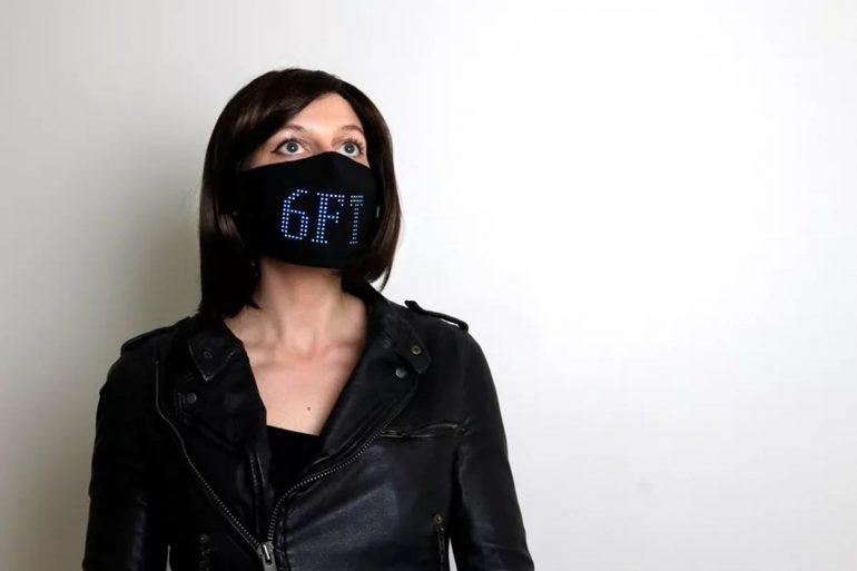 Fashion Designer Creates LED face mask charity