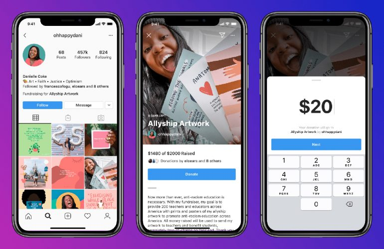 Instagram Personal Fundraising Feature 1