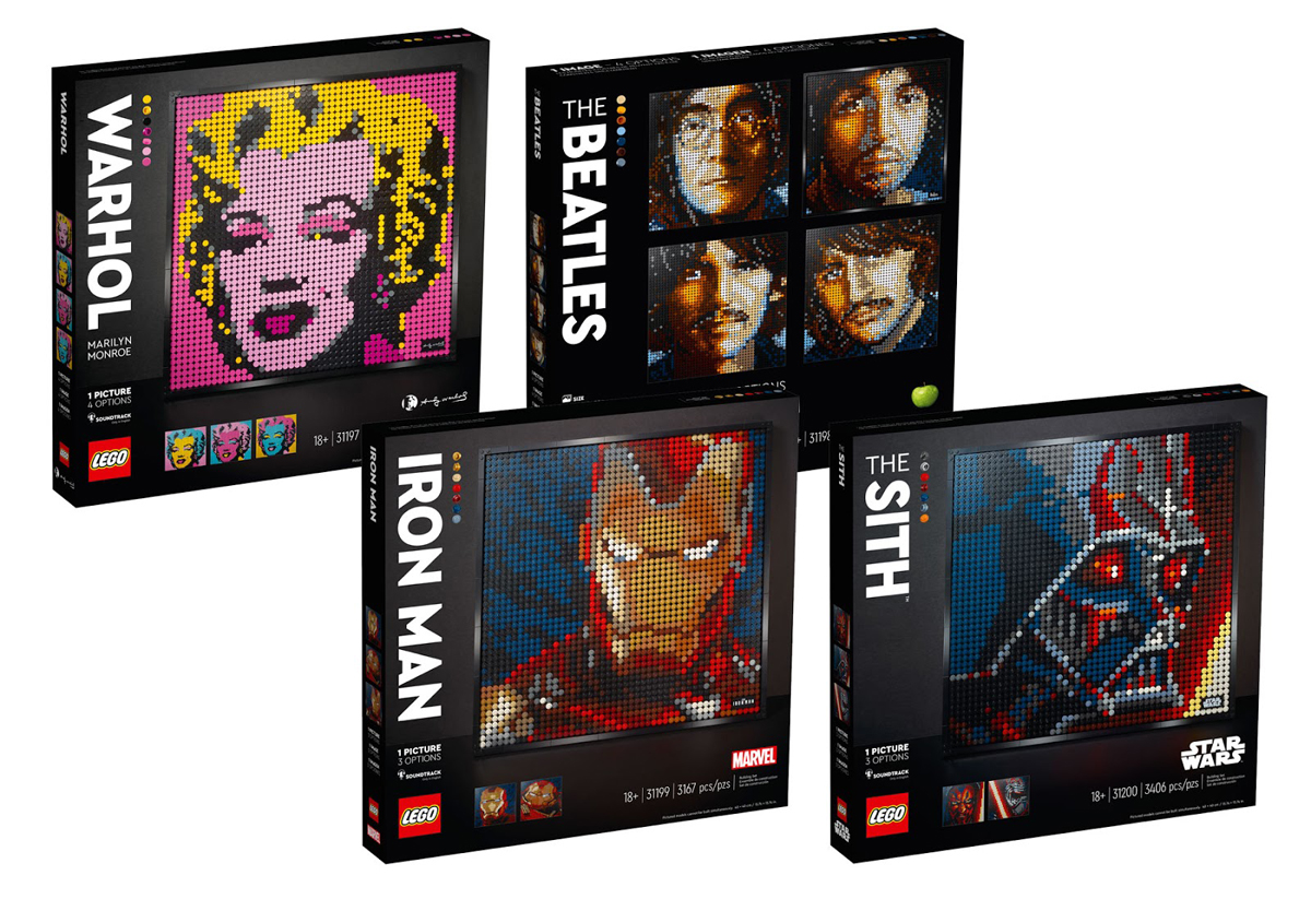 LEGO Launches Amazing New Art Line With IRON MAN And STAR WARS Sets