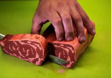 Start-up company 3D Printer plant-based steaks