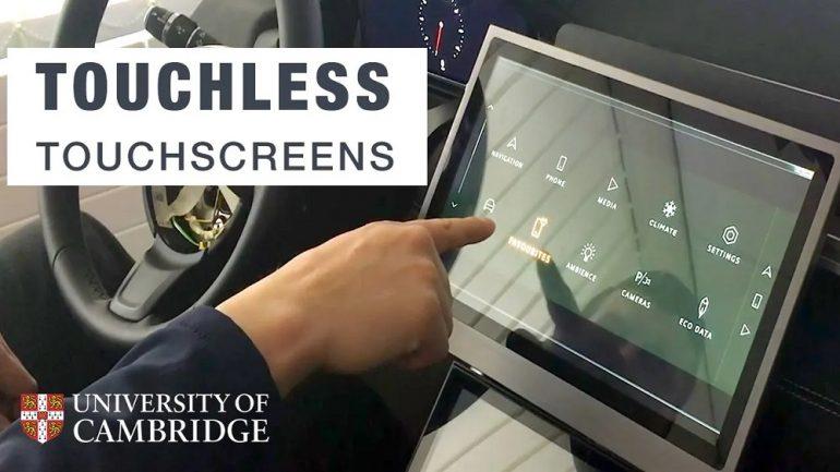 Touchless screen Cambridge University Jaguar Land Rover