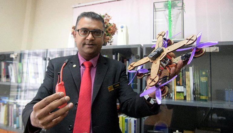 UPM eco-friendly drone pineapple leaves