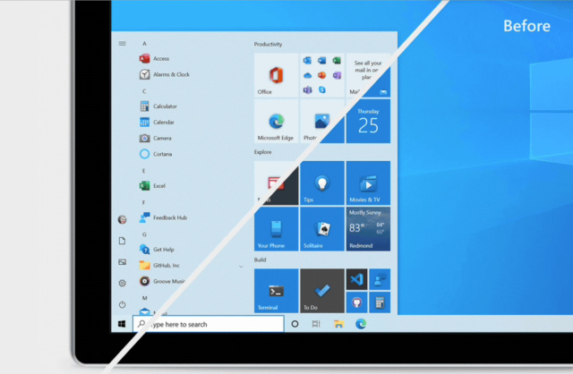Windows Start menu change