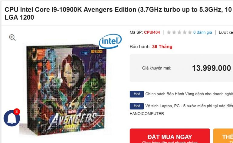 Intel Has Some Avengers Edition 10th Gen CPUs | Lowyat.NET