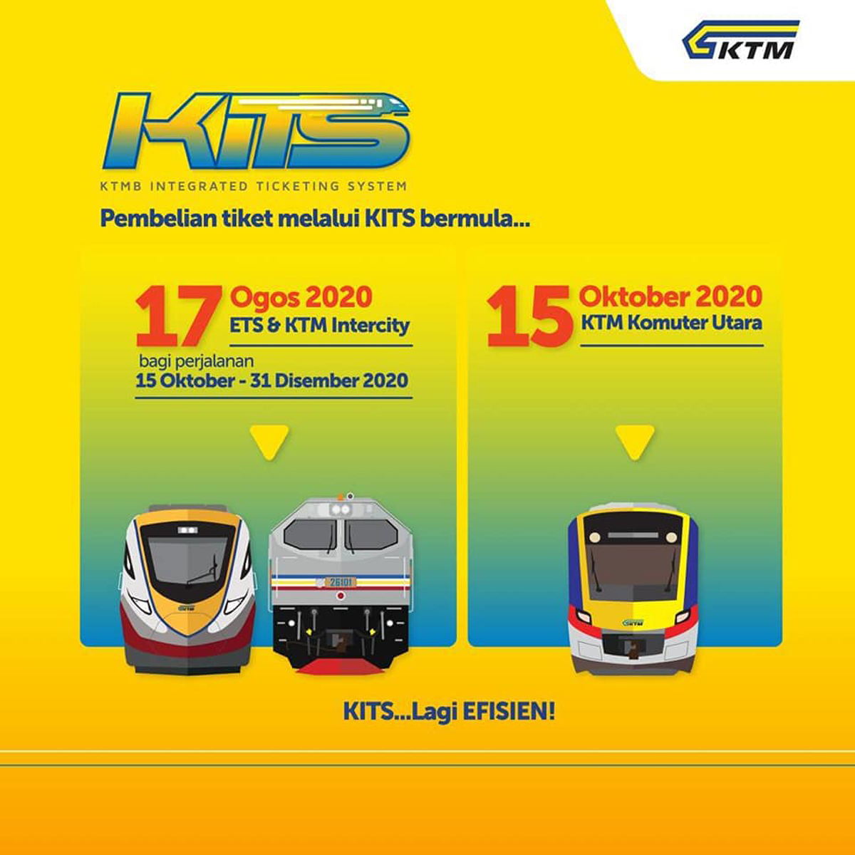 KTMB To Introduce New Online Ticketing System