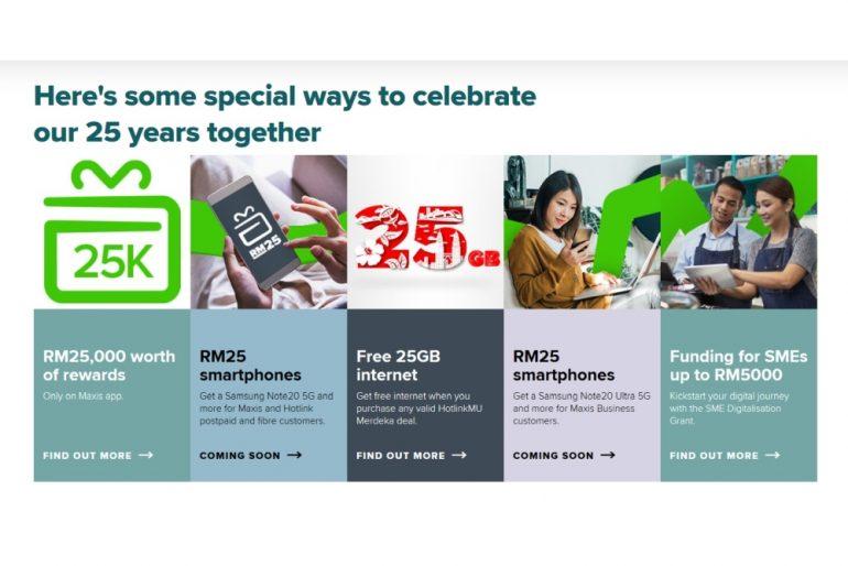 Maxis 25 anniversary promo