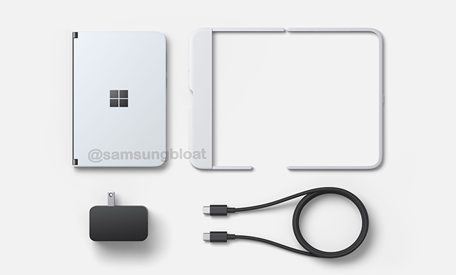 Microsoft Surface Duo possible box content