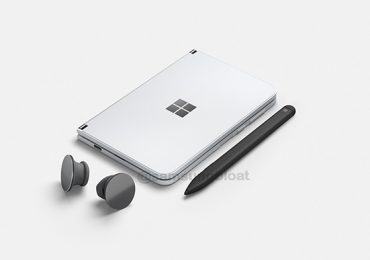 Microsoft Surface Duo with pen and buds