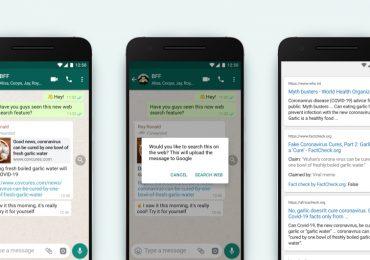 WhatsApp search web fact check
