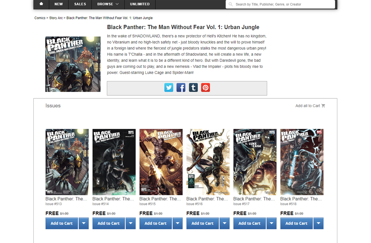A Large Number Of Black Panther Comics Are Now Free On Comixology