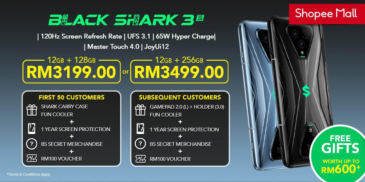 Black Shark 3S Malaysia Shopee