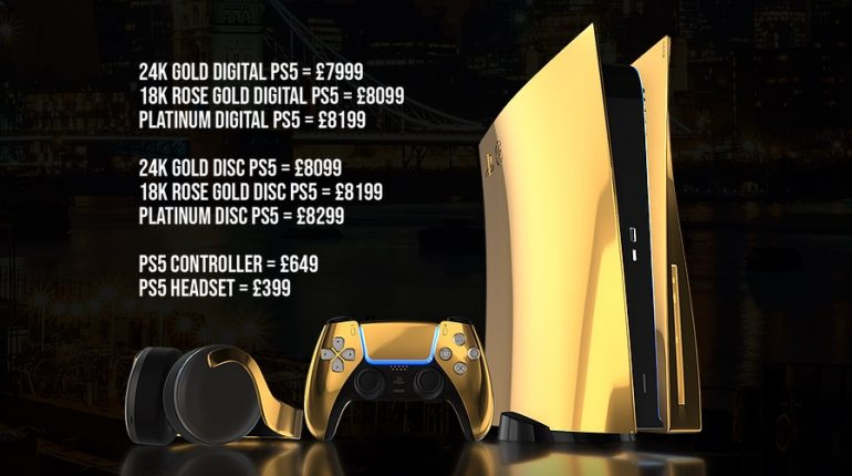 Gold PS5 prices